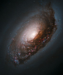 "An Abrasive Collision Gives One Galaxy a ""Black Eye"""