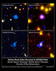 Hidden Black Holes Revealed in GOODS Field