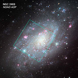 NGC 2403: Ground-based and Hubble View