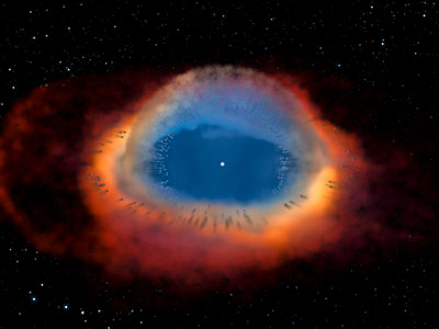 Helix Nebula Model (artist's impression)