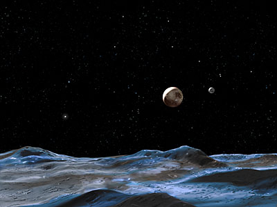An Artist's View of the Pluto System