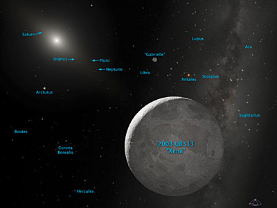 Artist's Concept of Kuiper Belt Object 2003 UB313 (Annotated)