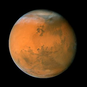 Mars on Dec. 1, 2007; longitude ~50 degrees