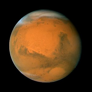Mars on Dec. 3, 2007; longitude ~320 degrees