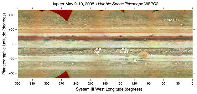Jupiter Map - Annotated