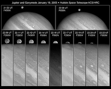 Ganymede disappears behind Jupiter