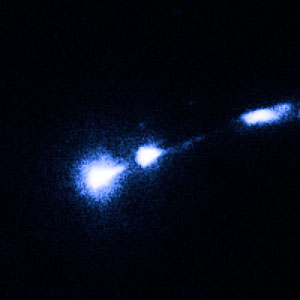 M87 nucleus and bright knot