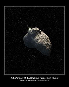 Smallest Kuiper Belt Object detected (artist's impression)