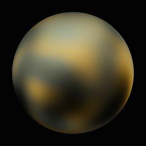 Pluto - 90° longitude