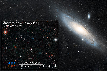 Wide-field view of the Andromeda Galaxy