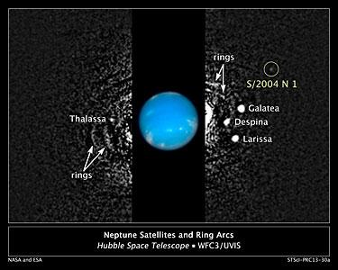 Hubble finds new moon orbiting Neptune