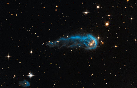 Hubble sees a cosmic caterpillar