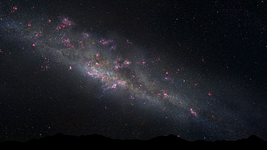 Artist's Illustration of the early Milky Way
