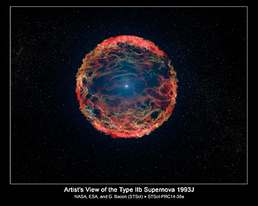 Artist's impression of supernova 1993J