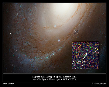 Supernova 1993J in spiral galaxy M81
