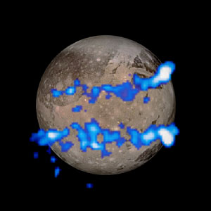 Hubble observation of aurorae on Ganymede