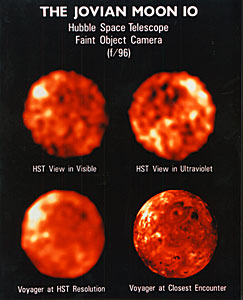 NASA Husble Space Telescope Comparison Images of Io Reveal New Information About Surface Composition and Variability
