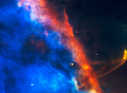 Gas Plume From a Newborn Star