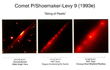 "Hubble Telescope Image of the ""String of Pearls"" Comet"