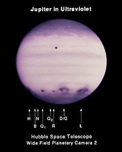 UV Image of Multiple Impact Zones