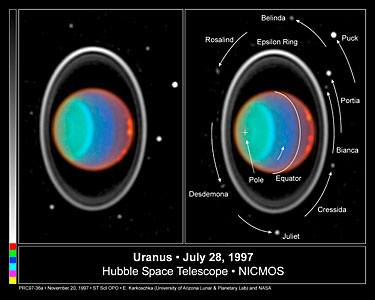Hubble Tracks Clouds on Uranus