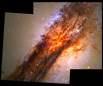 Turbulent Cauldron of Starbirth in Nearby Active Galaxy