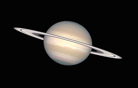 Saturn In Natural Colours