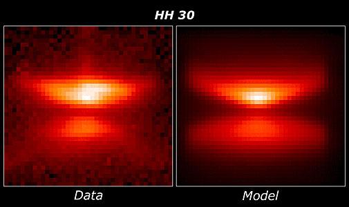 HH 30 model comparison