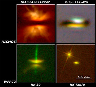 Four Young Stars With Nearly Edge-on Disks