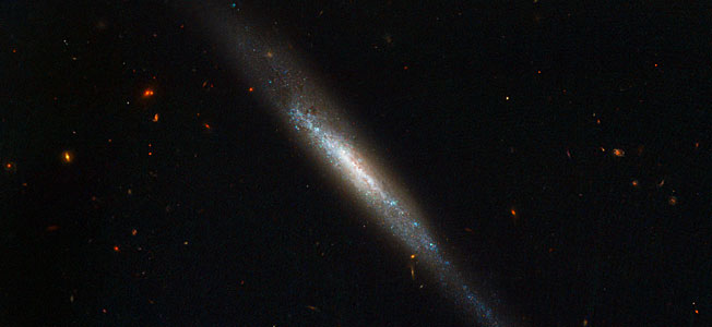 Edge-on Galaxy Hosts Supernova Explosion