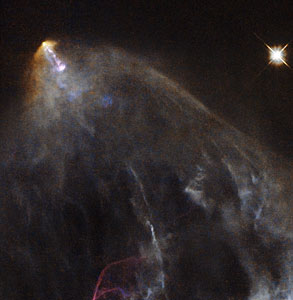A glowing jet from a young star