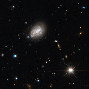 Galaxy gets a cosmic hair ruffling