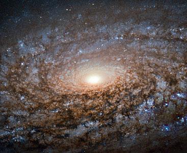 """Hubble shears a """"woolly"""" galaxy"""