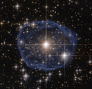 Blue bubble in Carina