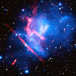Disco lights from a galaxy cluster