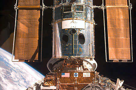 SM3A: Hubble Captured in the Discovery Cargo Bay