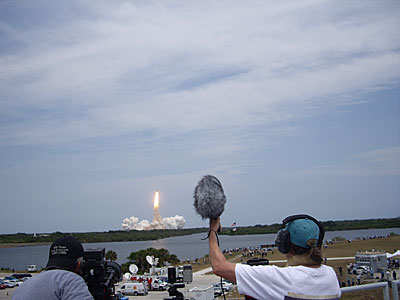 Space Shuttle Atlantis lifts off