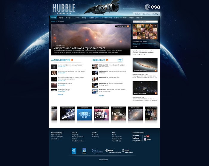 Hubble's European website gets a facelift!