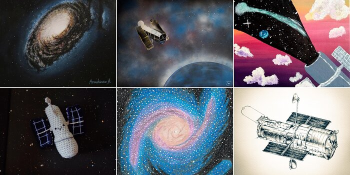 Collage of Hubble 30 Artistic Creations