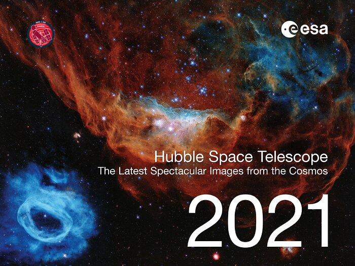 Hubble Space Telescope Calendar 2021 cover