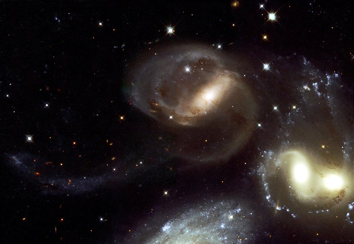 Stephan's Quintet - A Mammoth Cosmic Collision (Hubble view)