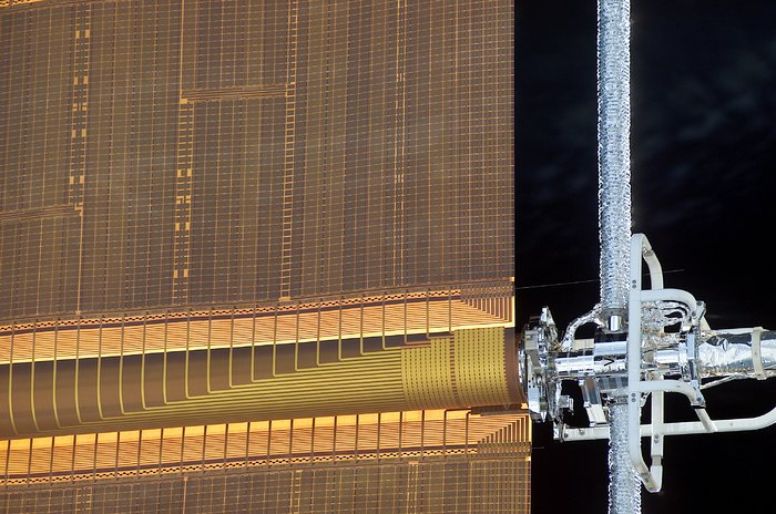 A pin protruding from one of the solar arrays