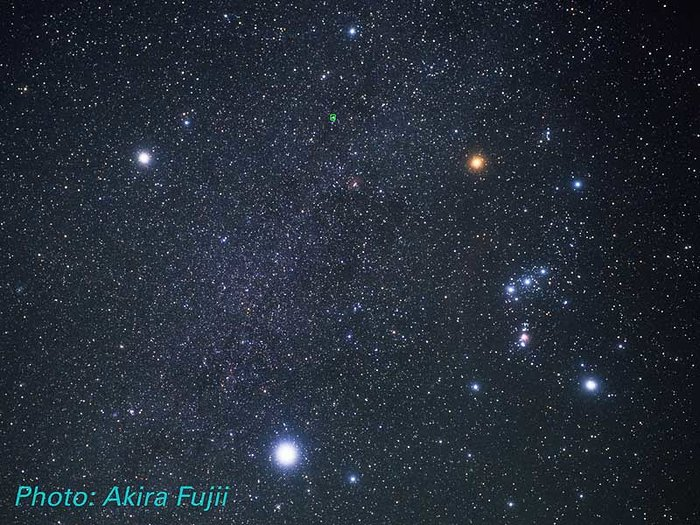 Monoceros, Orion, Canis Major and Canis Minor