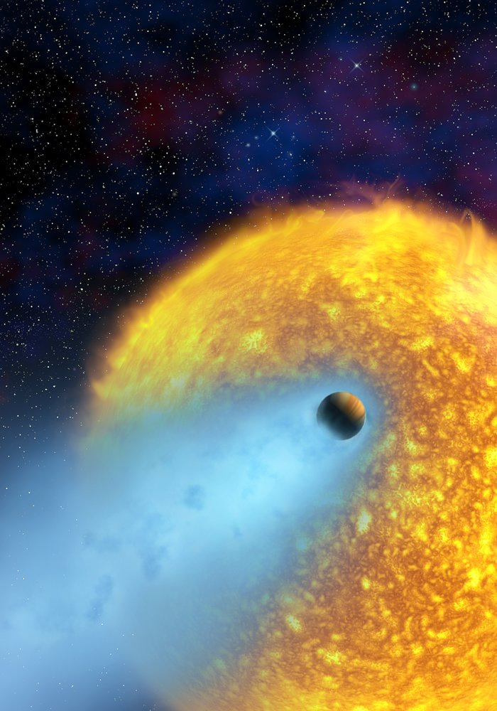 European astronomers observe first evaporating planet [artist's impression]