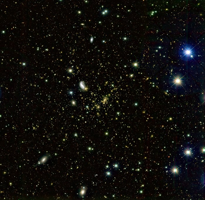 A ground-based wide-angle image of Abell 2218