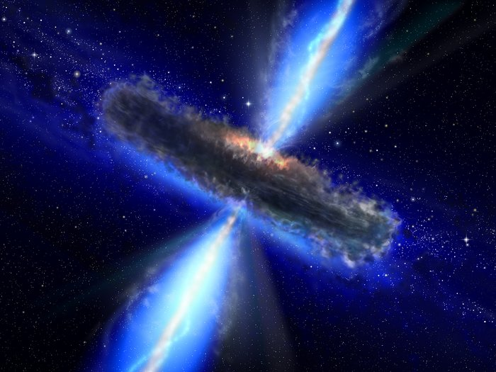 A dust-bound supermassive black hole [artist's impression]