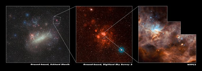 N11B's position in the Large Magellanic Cloud