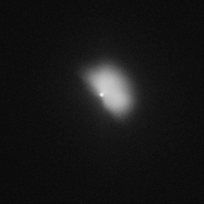 Hubble captures Deep Impact's collision with a comet (view 88 minutes after impact)
