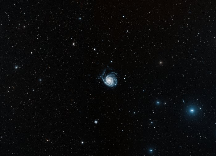 Digitized Sky Survey 2 image of the Pinwheel Galaxy (ground-based image)