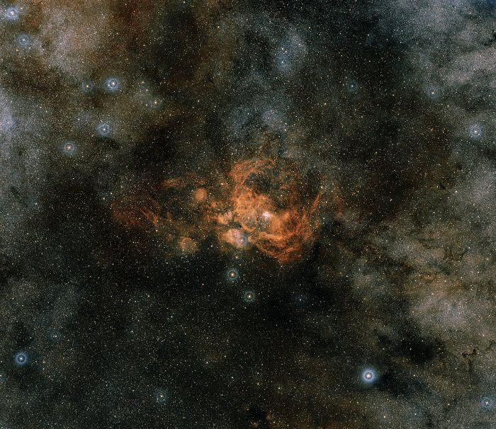 Star on a Hubble diet (ground-based image)